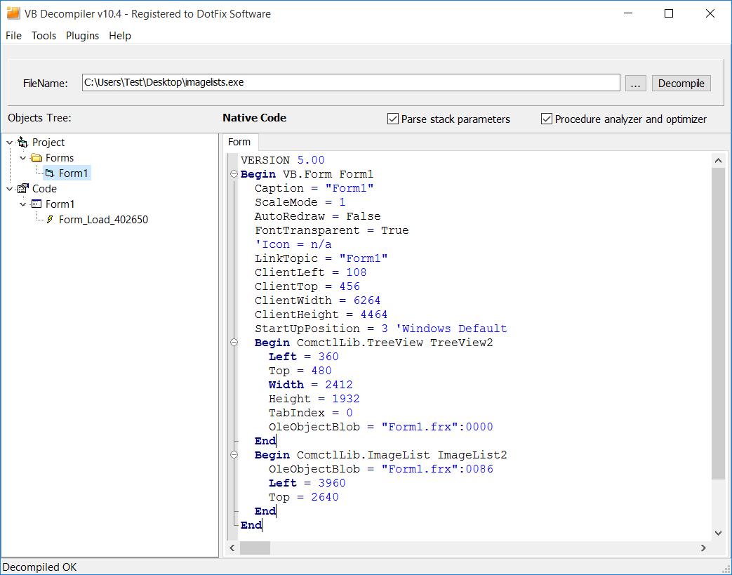 DotFix Software - VB Decompiler 104 - A new evolution stage